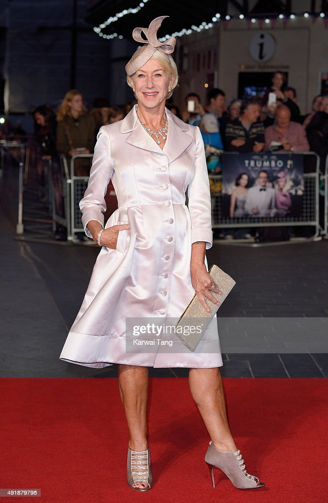Dame Helen Mirren attends a screening of 'Trumbo' during the BFI London Film Festival at Odeon Leicester Square on October 8, 2015 in London, England.