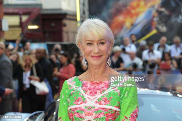 Dame Helen Mirren attends a special screening of Fast Furious Hobbs Shaw at The Curzon Mayfair on July 23 2019 in London England