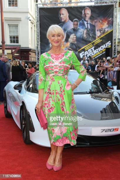 """Dame Helen Mirren attends a special screening of """"Fast & Furious: Hobbs & Shaw"""" at The Curzon Mayfair on July 23, 2019 in London, England."""