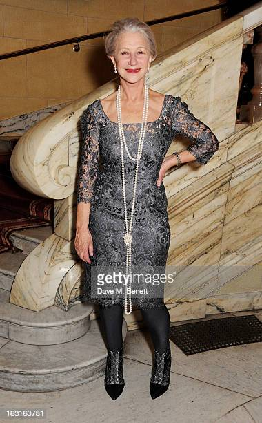 Dame Helen Mirren attends an after party following the press night performance of 'The Audience' at One Whitehall Place on March 5 2013 in London...
