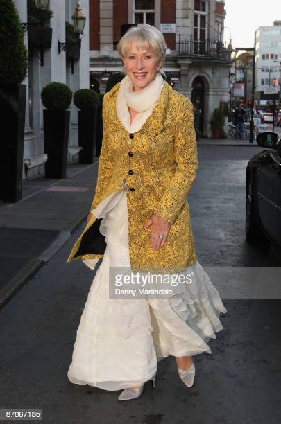 Dame Helen Mirren attends Inspirational woman of the year awards at the Marriott Hotel on May 11 2009 in London England