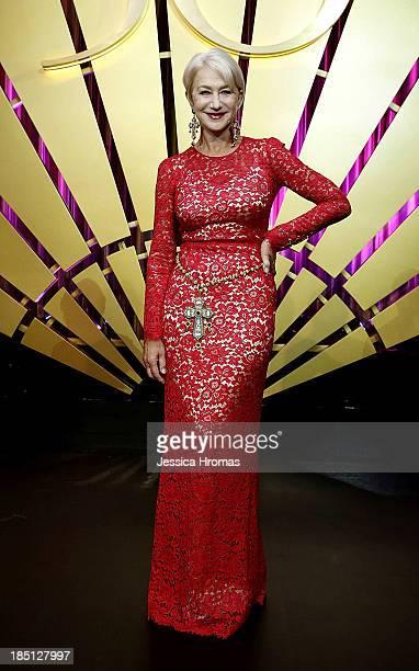 Dame Helen Mirren attends Mandarin Oriental Hong Kong's 50th Anniversary Gala on October 17 2013 in Hong Kong