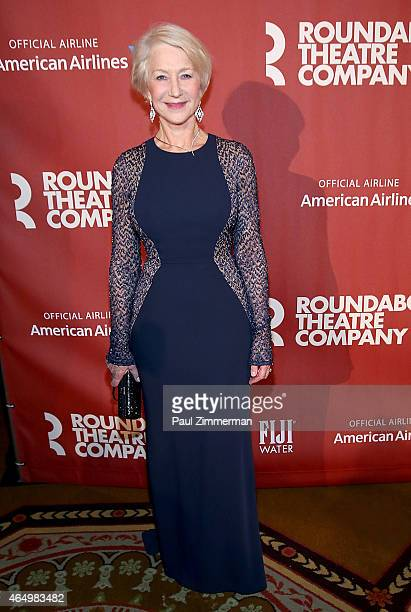 Dame Helen Mirren attends Roundabout Theatre Company's 2015 Spring Gala Honoring Dame Helen Mirren sponsored by FIIJI water at the Grand Ballroom at...