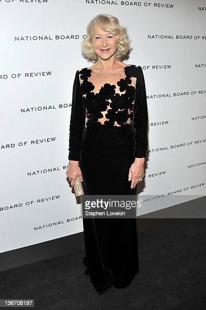Dame Helen Mirren attends the 2011 National Board of Review Awards gala at Cipriani 42nd Street on January 10 2012 in New York City