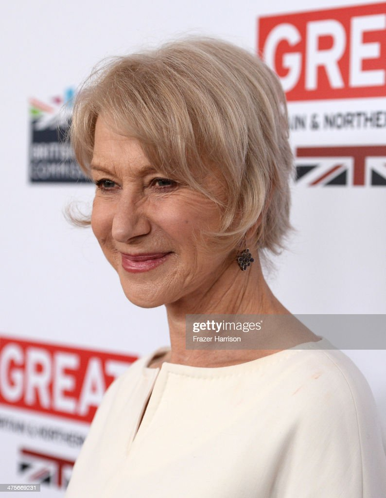 Dame Helen Mirren attends the 2014 GREAT British Oscar Reception at British Consul General's Residence on February 28, 2014 in Los Angeles, California.