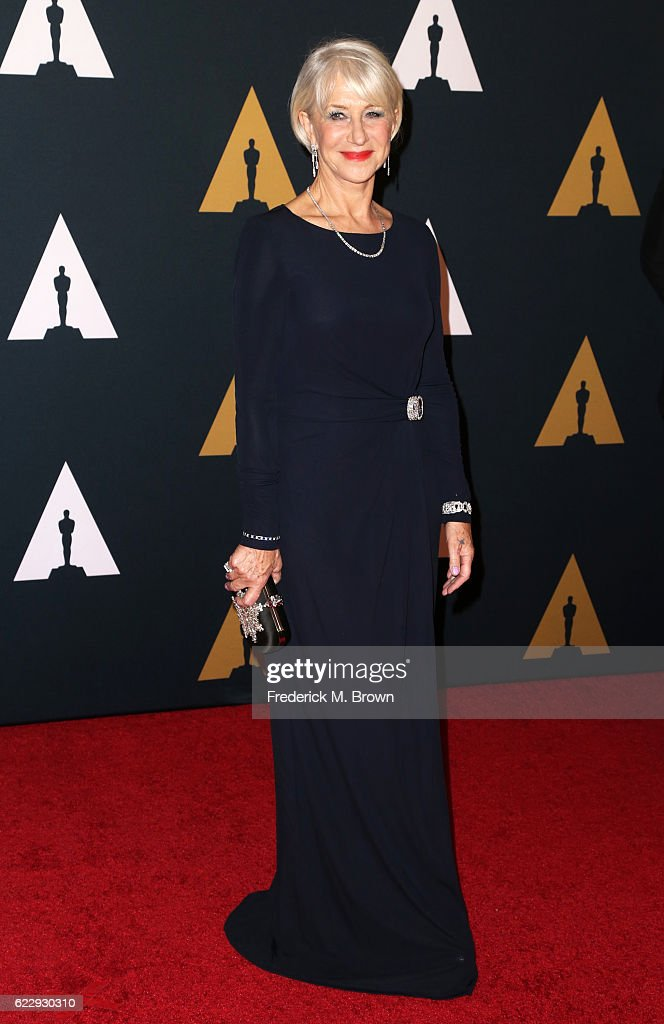 Dame Helen Mirren attends the Academy of Motion Picture Arts and Sciences' 8th annual Governors Awards at The Ray Dolby Ballroom at Hollywood & Highland Center on November 12, 2016 in Hollywood, California.