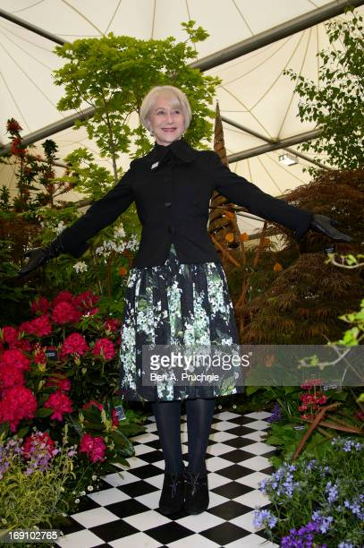 Dame Helen Mirren attends the Chelsea Flower Show press and VIP preview day at Royal Hospital Chelsea on May 20, 2013 in London, England.