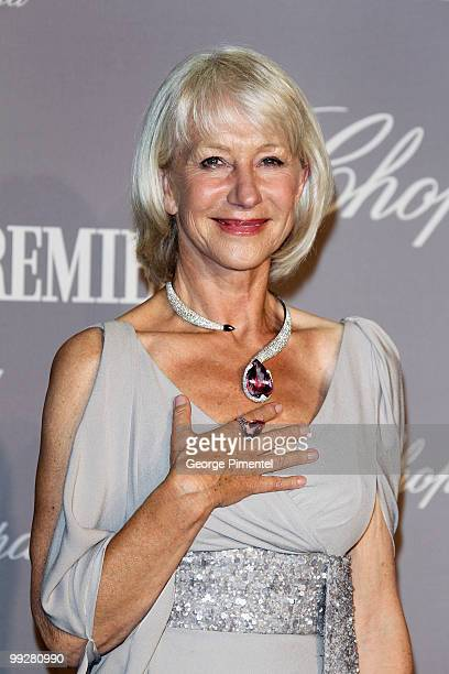 Dame Helen Mirren attends The Chopard Trophy at the Hotel Martinez during the 63rd Annual International Cannes Film Festival on May 13, 2010 in...