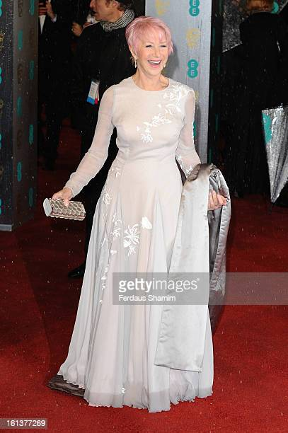 Dame Helen Mirren attends the EE British Academy Film Awards at The Royal Opera House on February 10 2013 in London England