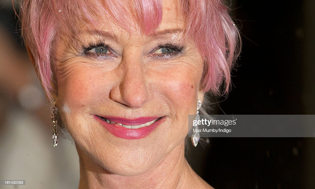 Dame Helen Mirren attends the EE British Academy Film Awards at The Royal Opera House on February 10, 2013 in London, England.