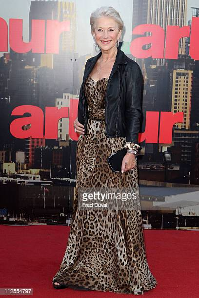 Dame Helen Mirren attends the European premiere of 'Arthur' at Cineworld 02 on April 19, 2011 in London, England.