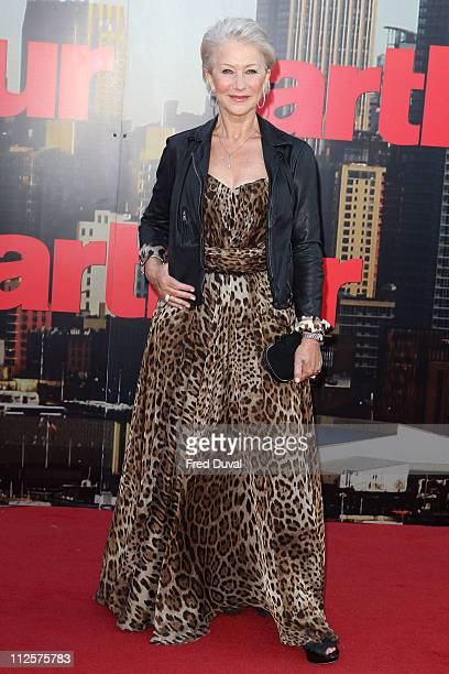 Dame Helen Mirren attends the European premiere of 'Arthur' at Cineworld 02 Arena on April 19 2011 in London England