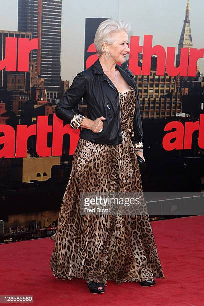 Dame Helen Mirren attends the European premiere of 'Arthur' at Cineworld 02 Arena on April 19, 2011 in London, England.