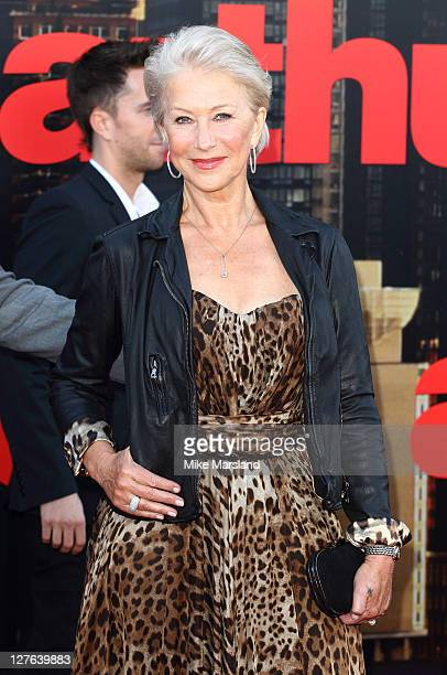 Dame Helen Mirren attends the European premiere of 'Arthur' at Cineworld 02 on April 19 2011 in London England