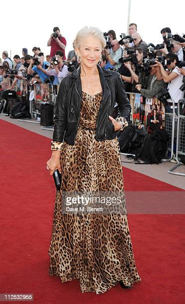 Dame Helen Mirren attends the European Premiere of 'Arthur' held at The Cineworld O2 on April 19 2011 in London England