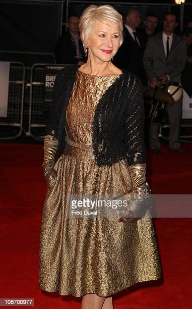 Dame Helen Mirren attends the European premiere of Brighton Rock at Odeon West End on February 1 2011 in London England