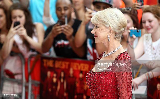 Dame Helen Mirren attends the European Premiere of Red 2 at Empire Leicester Square on July 22 2013 in London England