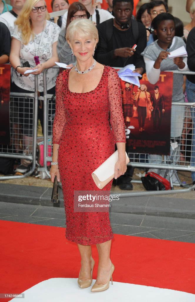 Dame Helen Mirren attends the European Premiere of 'Red 2' at Empire Leicester Square on July 22, 2013 in London, England.