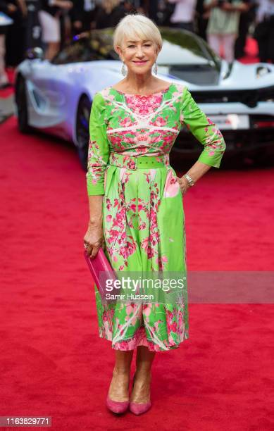 Dame Helen Mirren attends the Fast Furious Hobbs Shaw Special Screening at The Curzon Mayfair on July 23 2019 in London England