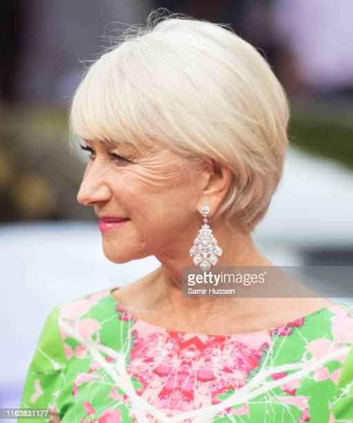 """Dame Helen Mirren attends the """"Fast & Furious: Hobbs & Shaw"""" Special Screening at The Curzon Mayfair on July 23, 2019 in London, England."""