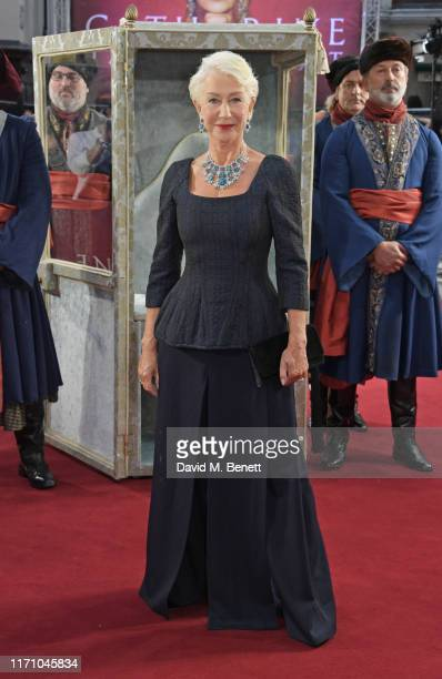 """Dame Helen Mirren attends the Premiere Screening of new Sky Atlantic drama """"Catherine The Great"""" at The Curzon Mayfair on September 25, 2019 in..."""