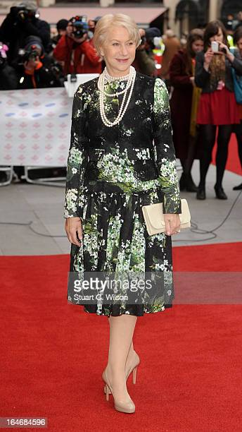 Dame Helen Mirren attends the Prince's Trust Celebrate Success Awards at Odeon Leicester Square on March 26 2013 in London England