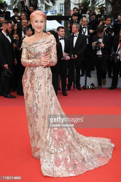 """Dame Helen Mirren attends the screening of """"Les Plus Belles Annees D'Une Vie"""" during the 72nd annual Cannes Film Festival on May 18, 2019 in Cannes,..."""