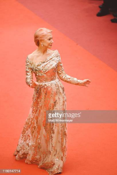 Dame Helen Mirren attends the screening of Les Plus Belles Annees D'Une Vie during the 72nd annual Cannes Film Festival on May 18 2019 in Cannes...