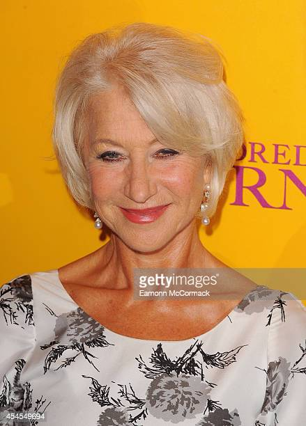 """Dame Helen Mirren attends the UK Gala screening of """"The Hundred Foot Journey"""" at The Curzon Mayfair on September 3, 2014 in London, England."""