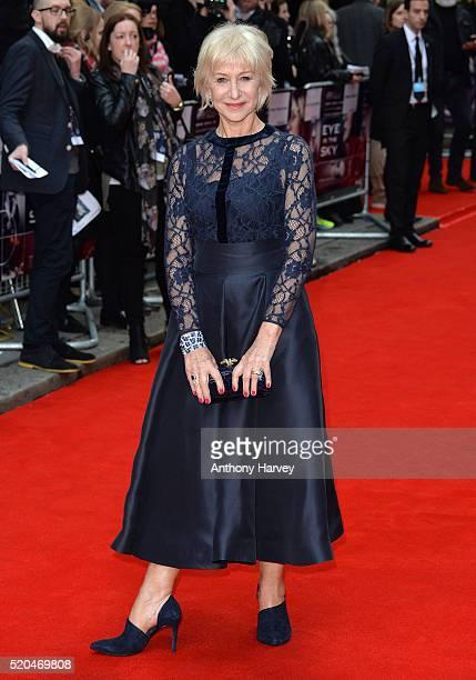 Dame Helen Mirren attends the UK premiere of 'Eye In The Sky' on April 11 2016 in London United Kingdom