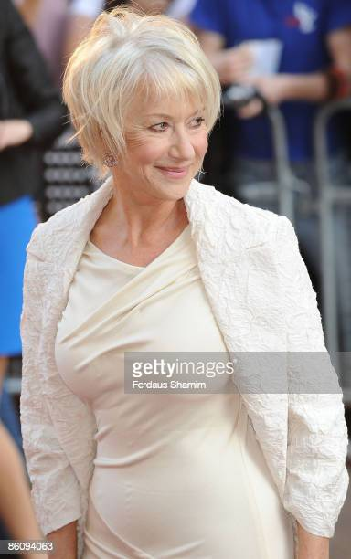 Dame Helen Mirren attends the UK premiere of 'State of Play' at Empire Leicester Square on April 21 2009 in London England