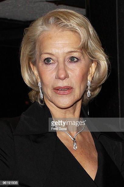 Dame Helen Mirren attends the UK Prmeiere of 'The Last Station' at The Curzon Mayfair on January 26 2010 in London England