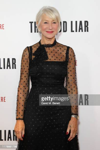 """Dame Helen Mirren attends the World Premiere of """"The Good Liar"""" at the BFI Southbank on October 28, 2019 in London, England."""