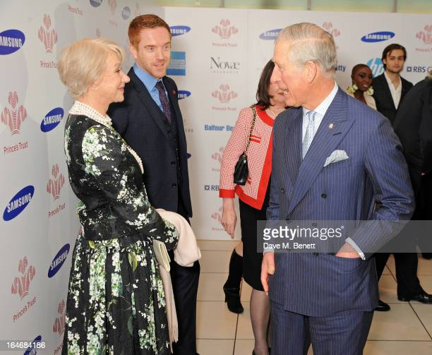 Dame Helen Mirren, Damian Lewis and HRH Prince Charles, Prince of Wales attend The Prince's Trust & Samsung Celebrate Success Awards at Odeon...