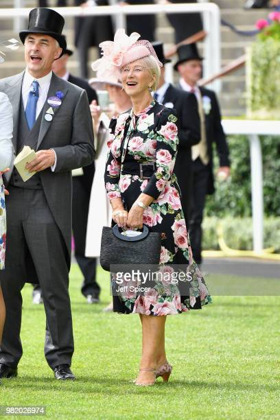 Dame Helen Mirren DBE attends day 5 of Royal Ascot at Ascot Racecourse on June 23 2018 in Ascot England