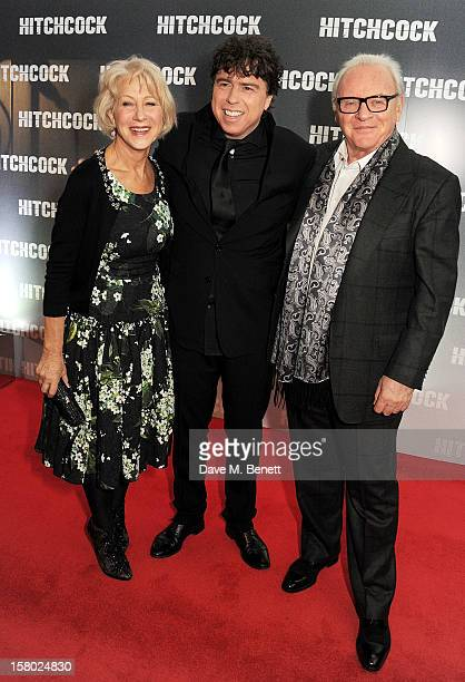 Dame Helen Mirren director Sacha Gervasi and Sir Anthony Hopkins attend the UK Premiere of 'Hitchcock' at BFI Southbank on December 9 2012 in London...