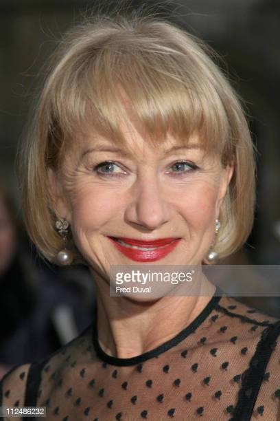 Dame Helen Mirren during Sony Ericsson Empire Film Awards Arrivals at Guildhall Arts Centre in London Great Britain