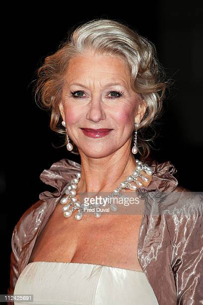 Dame Helen Mirren during The Orange British Academy Film Awards 2007 Red Carpet Arrivals at Royal Opera House in London Great Britain