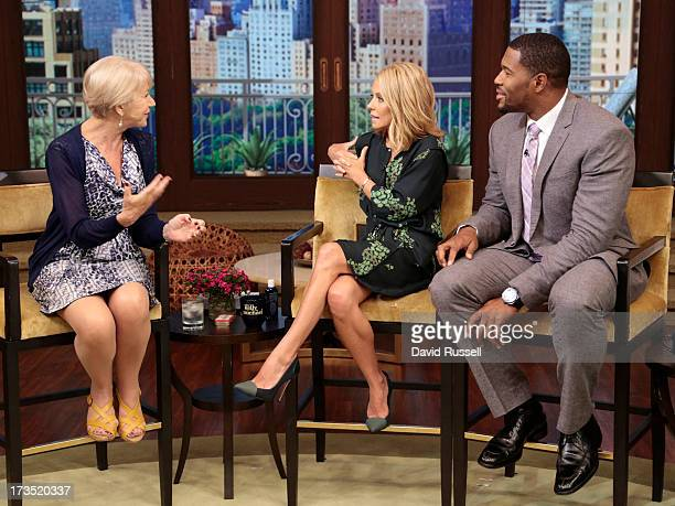 MICHAEL 7/15/13 Dame Helen Mirren is a guest on LIVE with Kelly and Michael distributed by DisneyWalt Disney Television via Getty Images Domestic...
