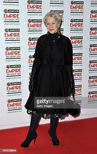 Dame Helen Mirren is pictured arriving at the Jameson Empire Awards at Grosvenor House on March 24 2013 in London England Renowned for being one of...
