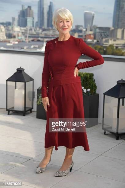 Dame Helen Mirren poses at a photocall for The Good Liar at The Corinthia Hotel London on October 30 2019 in London England