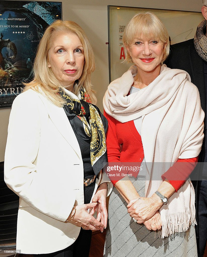Dame Helen Mirren (R) poses with CEO of the BFI Amanda Nevill before introducing 'L'Atlante', a film that inspired her, as part of the BFI Screen Epiphanies series at BFI Southbank on January 18, 2013 in London, England.