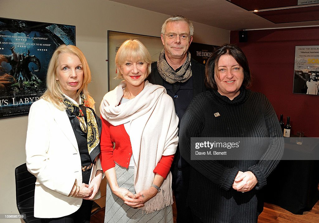 Dame Helen Mirren (2L) poses with CEO of the BFI Amanda Nevill, director Stephen Daldry and Cultural Director of the BFI Heather Stewart before introducing 'L'Atlante', a film that inspired her, as part of the BFI Screen Epiphanies series at BFI Southbank on January 18, 2013 in London, England.