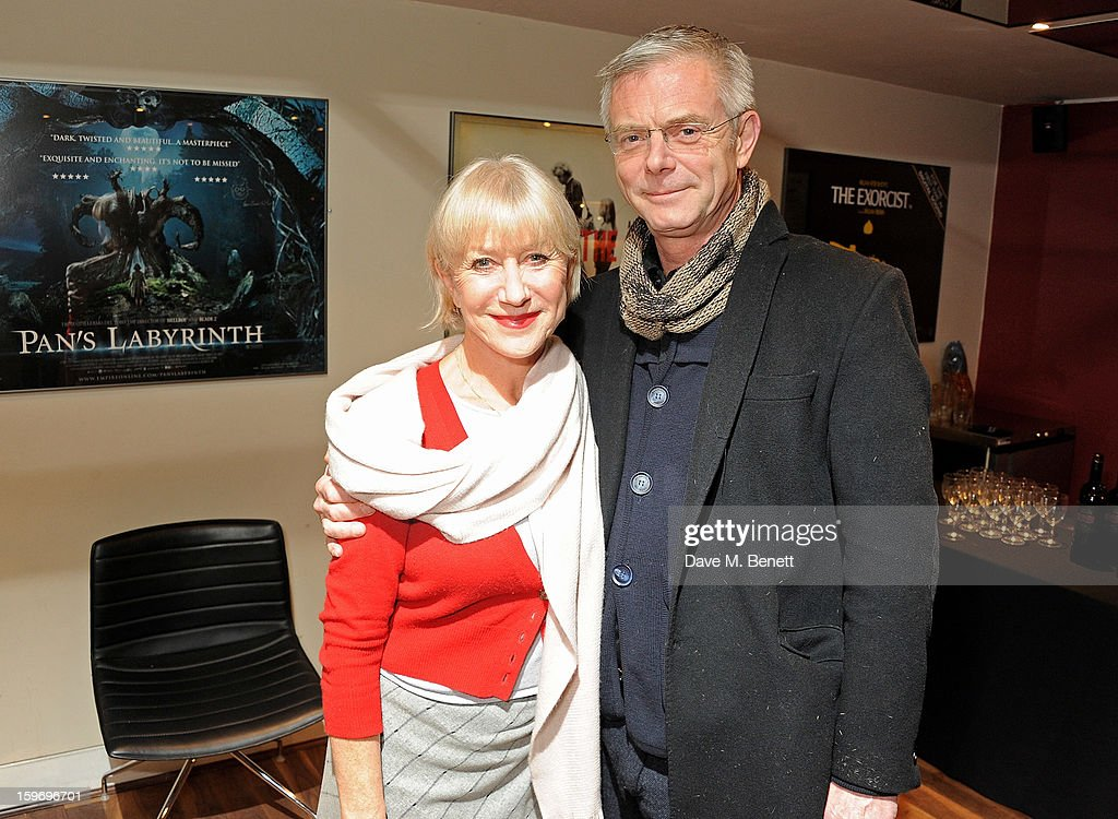 Dame Helen Mirren (L) poses with director Stephen Daldry before introducing 'L'Atlante', a film that inspired her, as part of the BFI Screen Epiphanies series at BFI Southbank on January 18, 2013 in London, England.