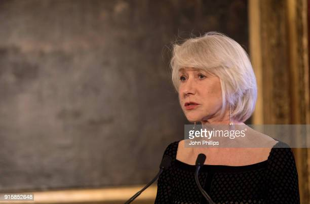 Dame Helen Mirren speaks during the Prince's Trust 'Invest in Futures' predinner reception celebrating the oneyear anniversary of The Trust's...