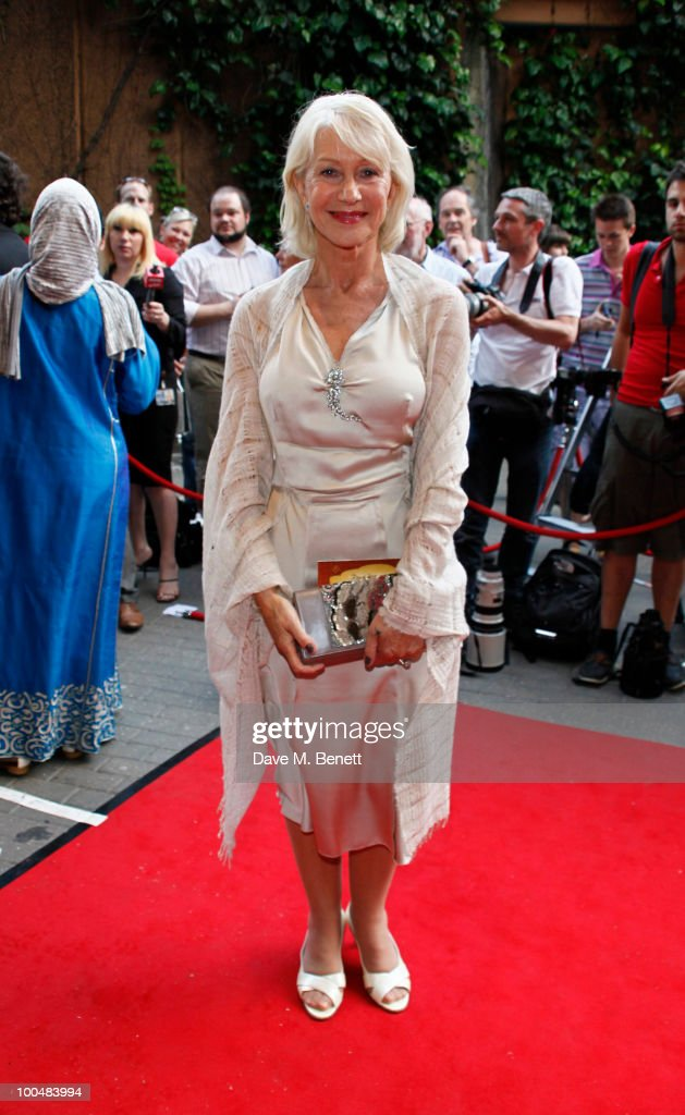 Dame Hellen Mirren attends the Royal Premiere of Arabia 3D at London IMAX on May 24, 2010 in London, England.