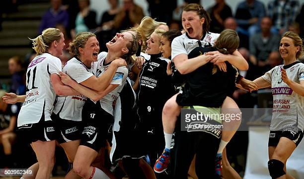 Dame Håndbold Ligaen - The players fro Randers HK celebrating the victory. © Jan Christensen/Frontzonesport.