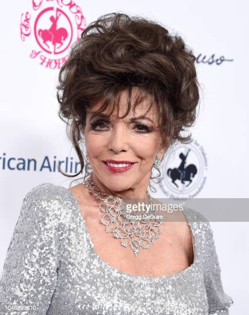 Dame Joan Collins arrives at the 2018 Carousel Of Hope Ball at The Beverly Hilton Hotel on October 6 2018 in Beverly Hills California
