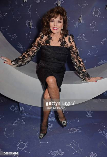 Dame Joan Collins attends the Claridge's Zodiac Party hosted by Diane von Furstenberg Edward Enninful to celebrate the Claridge's Christmas Tree 2018...