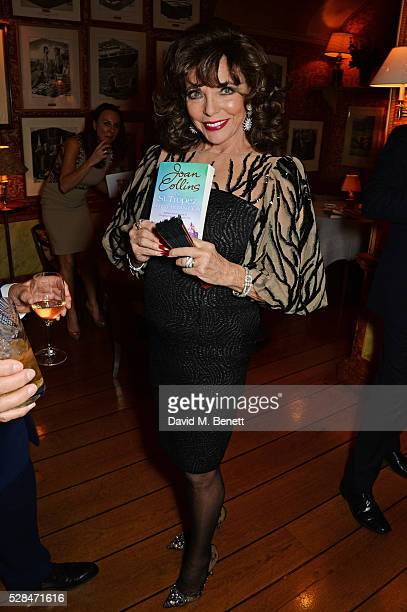 Dame Joan Collins attends the launch of Dame Joan Collins' new book 'The St Tropez Lonely Hearts Club' at Harry's Bar on May 5 2016 in London England
